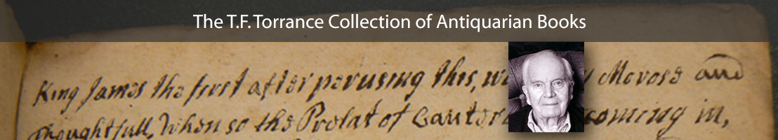 T.F. Torrance Collection of Antiquarian Books